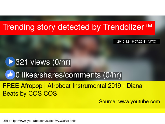 FREE Afropop | Afrobeat Instrumental 2019 - Diana | Beats by COS COS