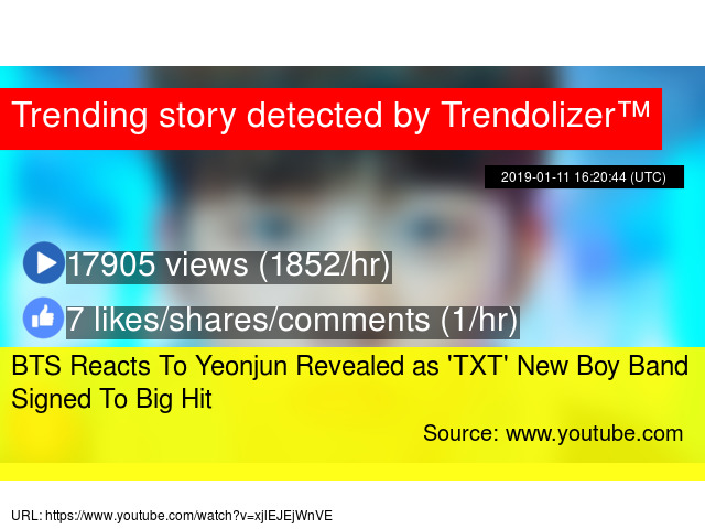 BTS Reacts To Yeonjun Revealed as 'TXT' New Boy Band Signed To Big Hit