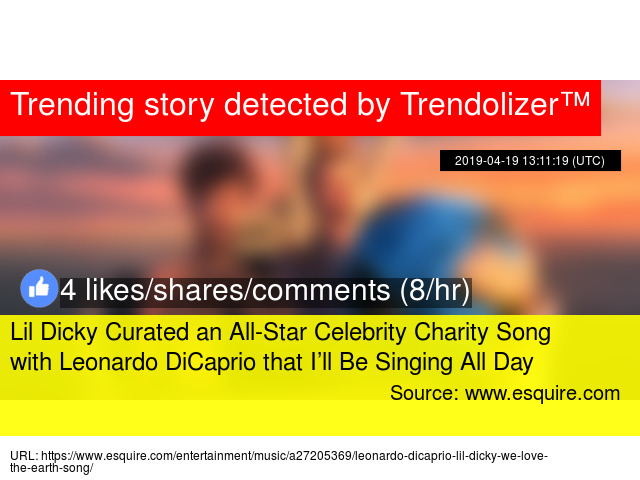 Lil Dicky Curated an All-Star Celebrity Charity Song with