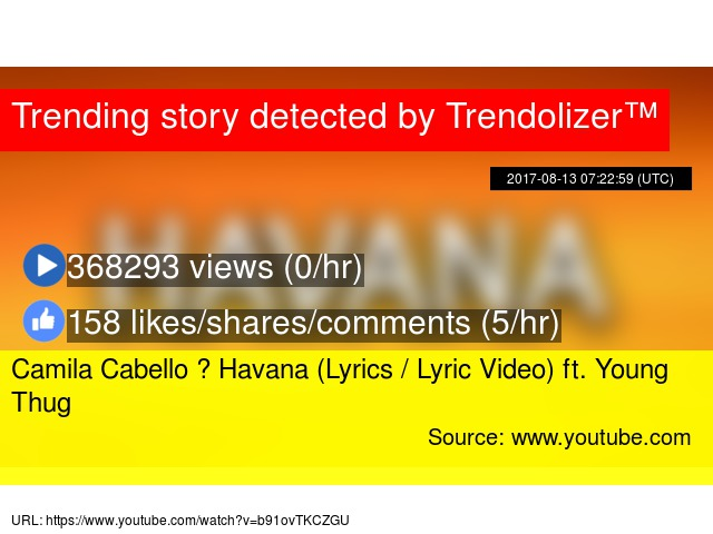 Camila Cabello ‒ Havana (Lyrics / Lyric Video) ft  Young Thug