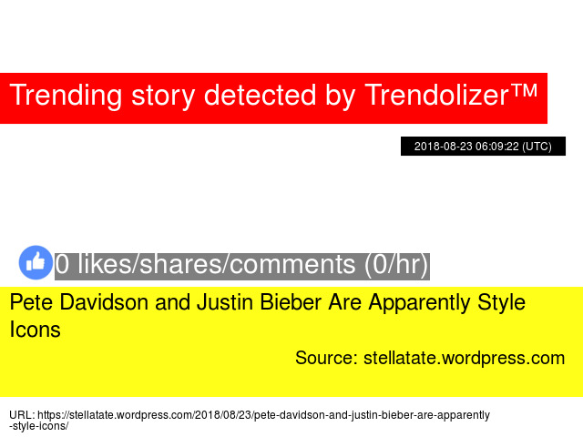 0e67f15d201c Pete Davidson and Justin Bieber Are Apparently Style Icons